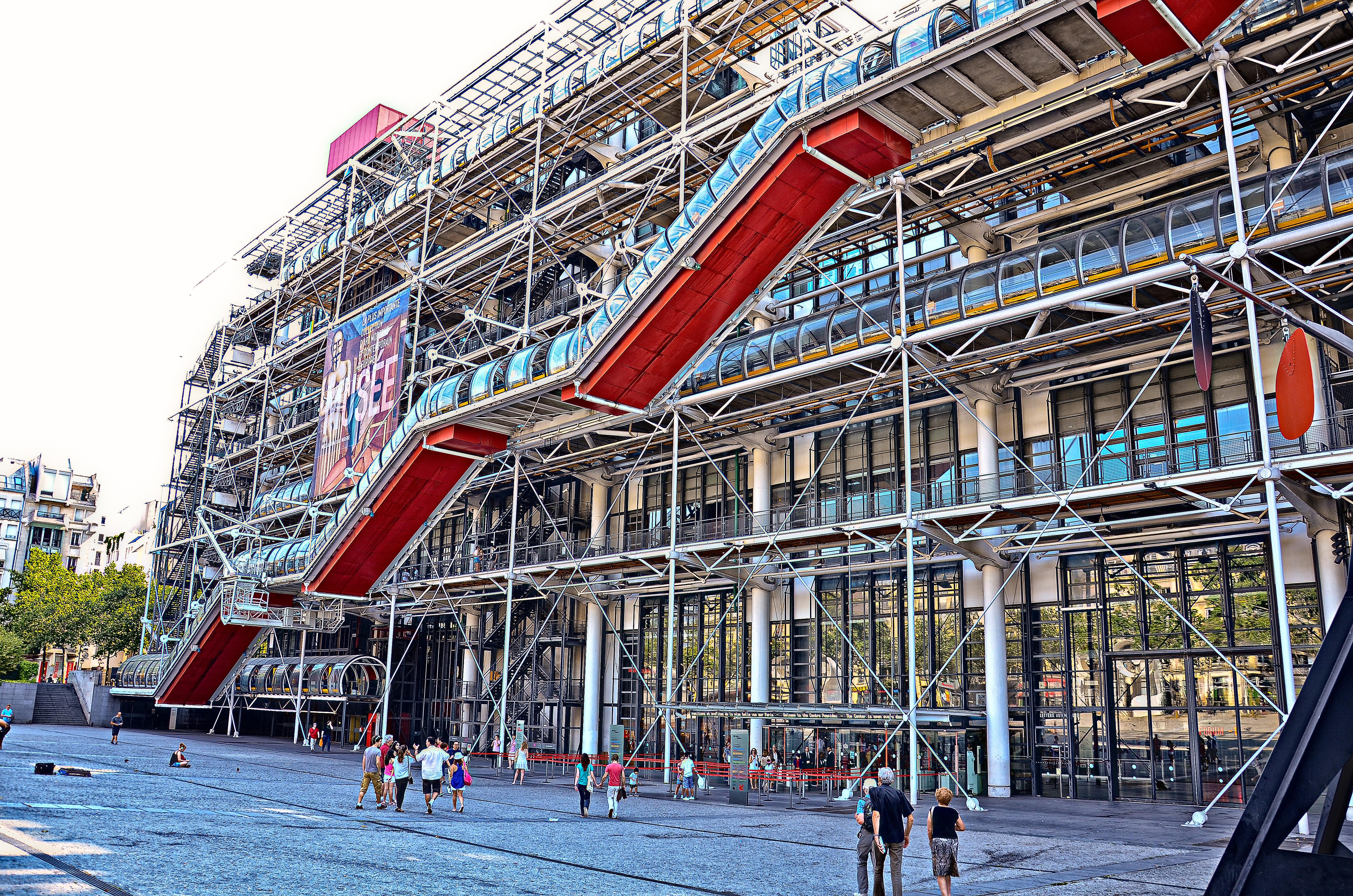 Fachada oeste del Centro Pompidou. (c) Arturo Guillaumín/2013.