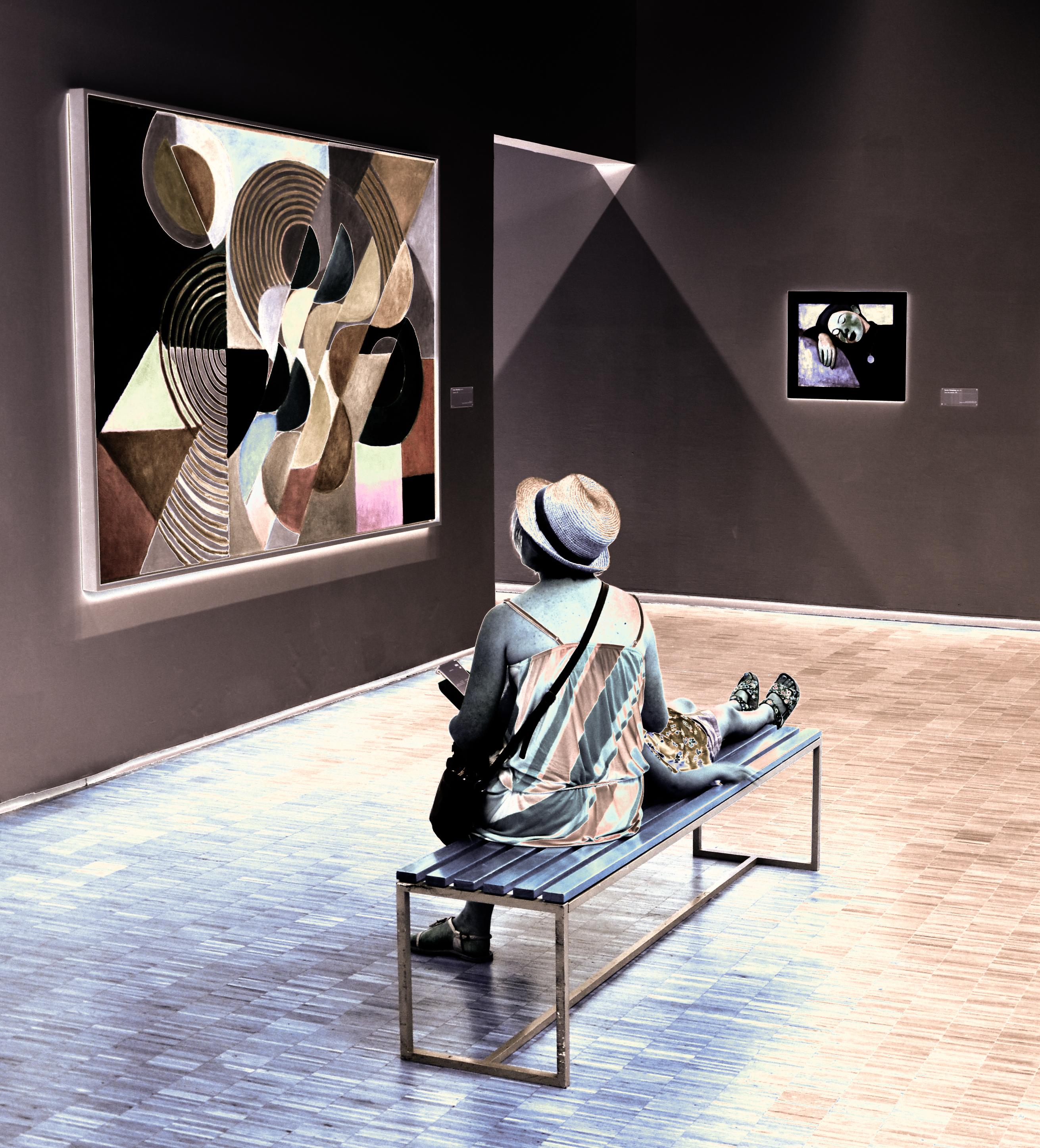 Composition, de Sonia Delaunay... con madre e hija.