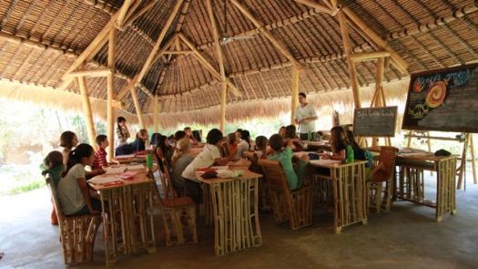 Green School en Bali: salones de clases sin muros.