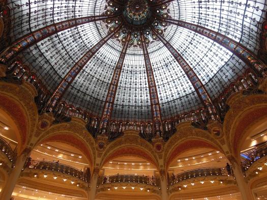 La cúpula de las Galerías Lafayette.