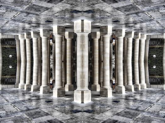Columnas con reflejo # 6
