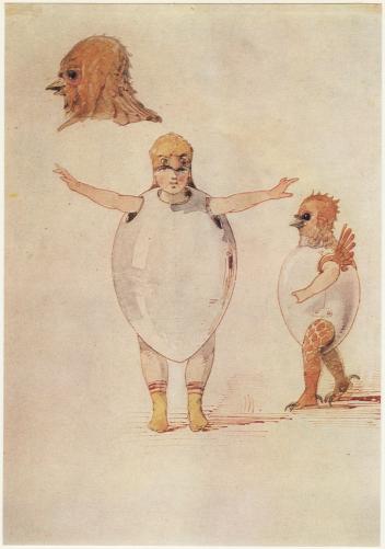 Dibujo Ballet de polluelos en sus cascarones, de Hartman.