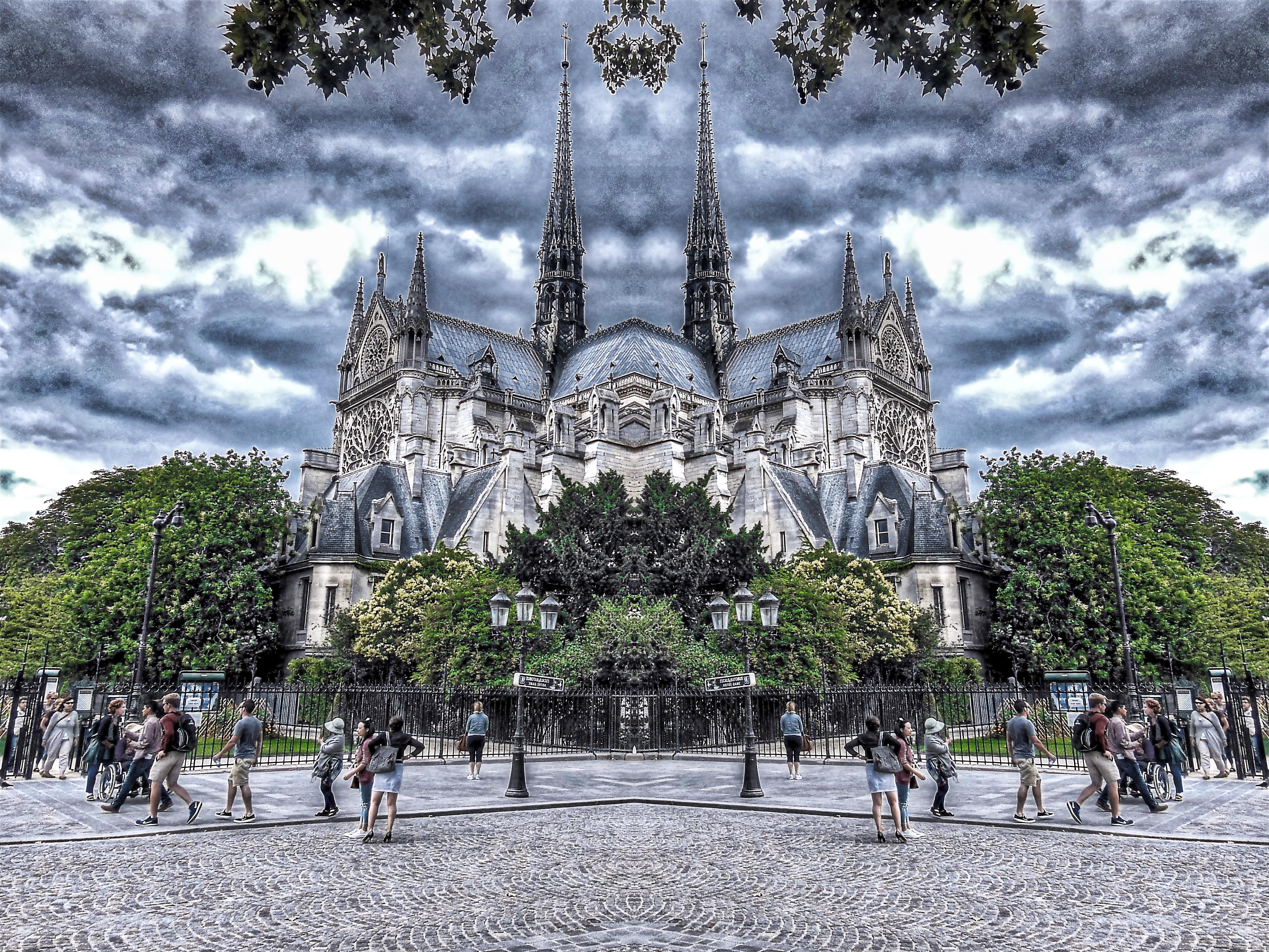 Notre Dame reflejada