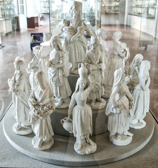 Exhibición de porcelana en el Palacio Pitti.