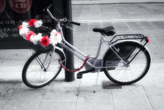 Bici con flores.