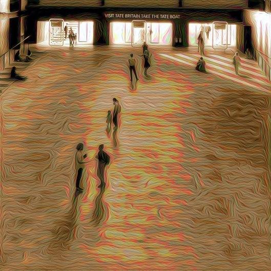 Mujer bailando en el Tate Modern.